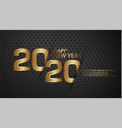 Happy new year 2020 typography text celebration vector