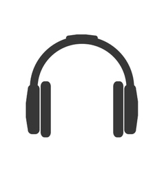 Headphone silhouette technology icon vector