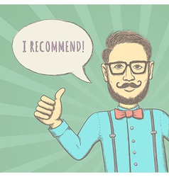 Hipster Recommend vector