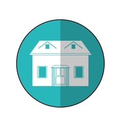 house facade loft circle vector image