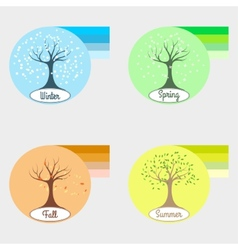 Infographic four seasons vector image