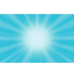 Light blue pop art background vector image