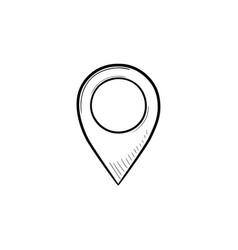 location pin hand drawn outline doodle icon vector image