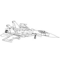 Military plane fighter jet vector