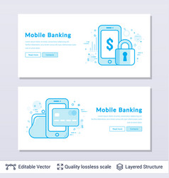 mobile banking symbols vector image