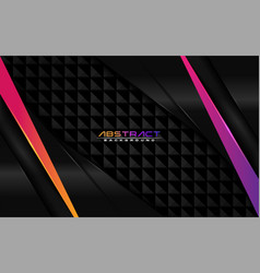 modern black background with purple and orange vector image