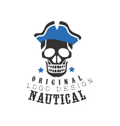 nautical logo original design retro emblem for vector image