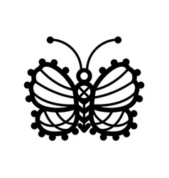 one line of crocheted lacy vector image