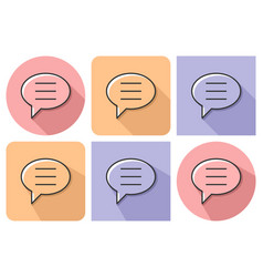Outlined icon of elliptical speech bubble with vector