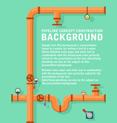 Pipeline concept construction background vector