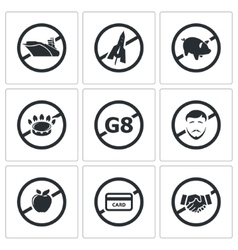 Prohibiting signs Icons Set vector image