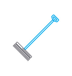 Rake linear icon concept rake line sign vector
