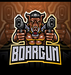 Razorback gunners esport mascot logo vector