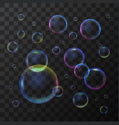 realistic 3d detailed soap bubble on a transparent vector image