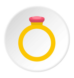 Ring icon circle vector