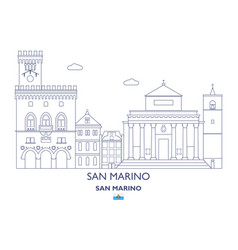san marino city skyline vector image