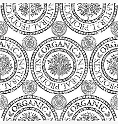 Seamless tree pattern 020 grunge vector