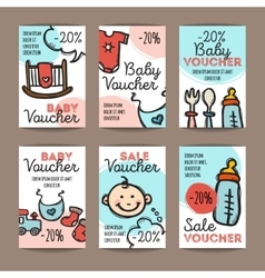 Set discount coupons for bagoods vector