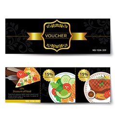 Set of food voucher discount template design vector