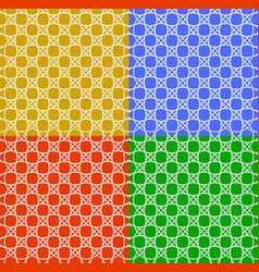 Set of seamless patterns in different colors with vector