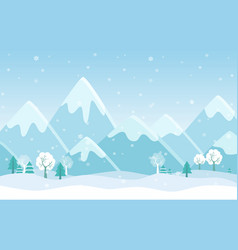 Simple flat of winter vector
