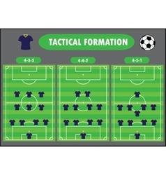 Soccer team formation vector
