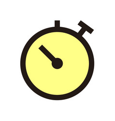 stopwatch icon isolated on white background from vector image