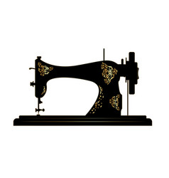 Tailor logo vintage sewing machine icon vector