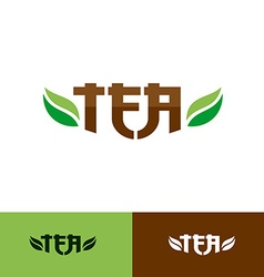 Tea text logo vector image