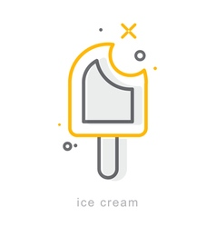 Thin line icons Ice cream vector image