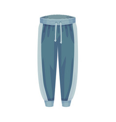Tracksuit bottoms or elastic track pants as male vector