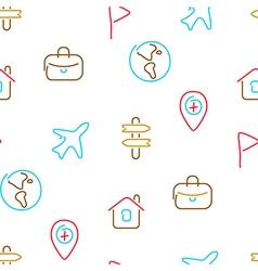 Travel trip seamless pattern vector