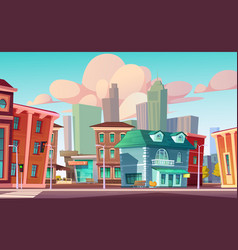 urban street landscape with cafe beauty salon vector image