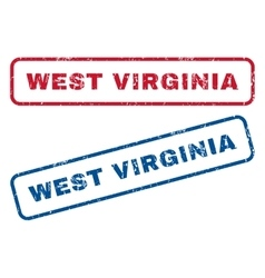 West Virginia Rubber Stamps vector