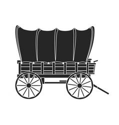 Wild west wagon iconblack icon vector