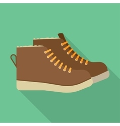 Winter boots flat icon vector