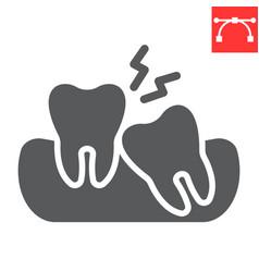 Wisdom teeth glyph icon dental and stomatolgy vector