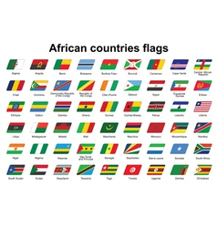 African countries flags icons vector image vector image