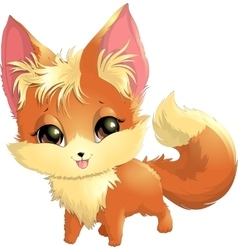 beautiful fox on a white background vector image vector image