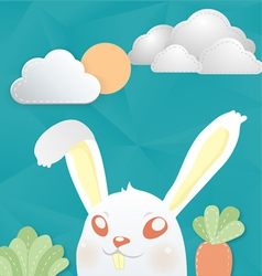 cony white vector image vector image
