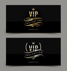 golden and platinum vip invitation template vector image vector image