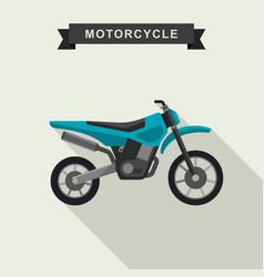 motoctoss enduro bike vector image vector image
