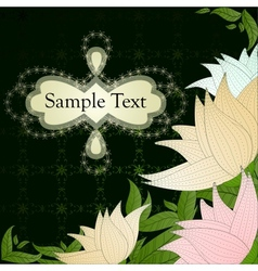 Vintage floral card with beautiful flowers vector image