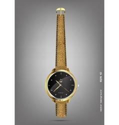 wristwatches - golden vector image
