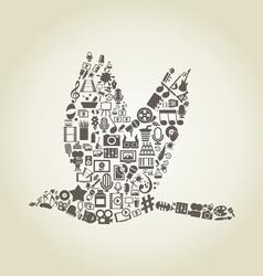 Bird art vector image vector image