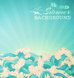 Bright summer background vector