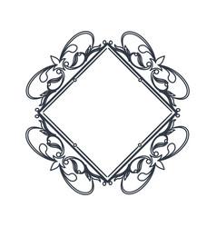 classic frame polygon crest heraldic decoration vector image vector image