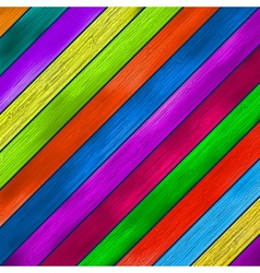 Colorful wooden background EPS8 vector image vector image