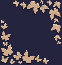 Cute card with butterflies composition made in vector image