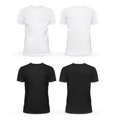 Empty front of t-shirts for men and women vector image